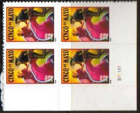 "Scott 3203 Plate Block (32 cents) <p> <a href=""/images/USA-Scott-3203-PB.jpg""><font color=green><b>View the image</a></b></font>"