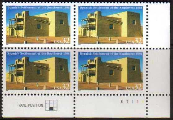 "Scott 3220 Plate Block (32 cents) <p> <a href=""/images/USA-Scott-3220-PB.jpg""><font color=green><b>View the image</a></b></font>"