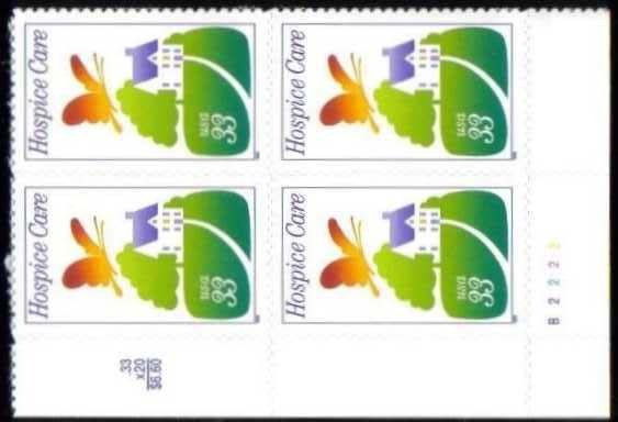 "Scott 3276 Plate Block (33 cents) <p> <a href=""/images/USA-Scott-3276-PB.jpg""><font color=green><b>View the image</a></b></font>"