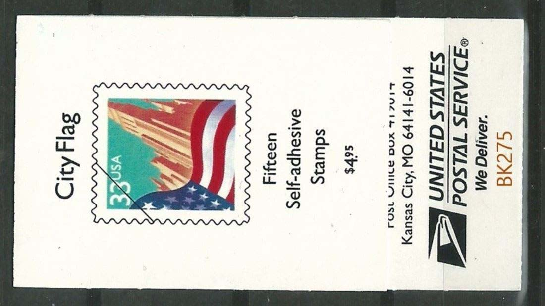 "Scott 3278a, Booklet #275 (33 cents) <p> <a href=""/images/USA-Scott-3278a-Booklet-275.jpg""><font color=green><b>View the image</a></b></font>"