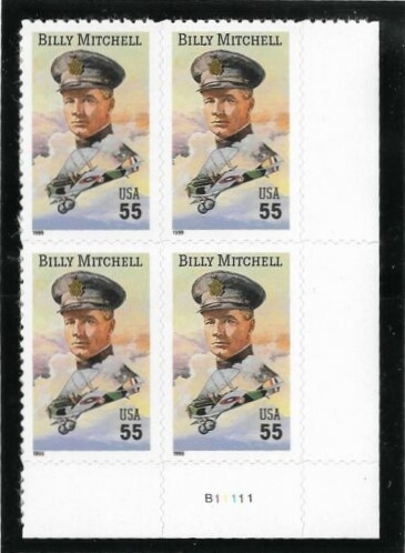 "Scott 3330 Plate Block of 4 (55 cents) <p> <a href=""/images/USA-Scott-3330-PB.jpg""><font color=green><b>View the image</a></b></font>"