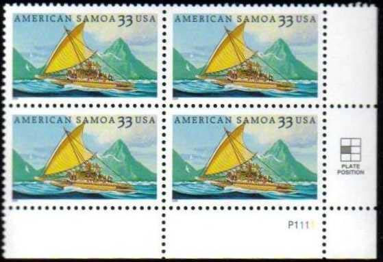 "Scott 3389 Plate Block (33 cents) <p> <a href=""/images/USA-Scott-3389-PB.jpg""><font color=green><b>View the image</a></b></font>"