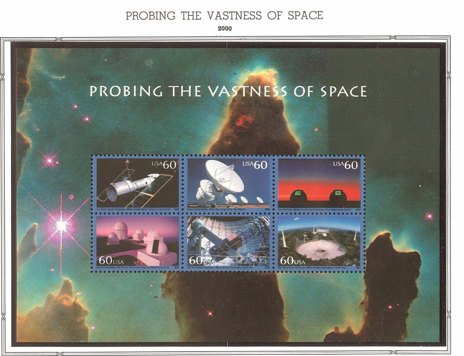 "Scott 3409 Probing the Vastness of Space, Sheet (Face 3.60) <p> <a href=""/images/USA-Scott-3409-Sheet.jpg""><font color=green><b>View the image</a></b></font>"