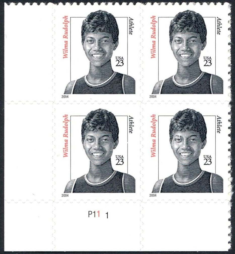 "Scott 3422 Plate Block (23 cents) <p> <a href=""/images/USA-Scott-3422-PB.jpg""><font color=green><b>View the image</a></b></font>"