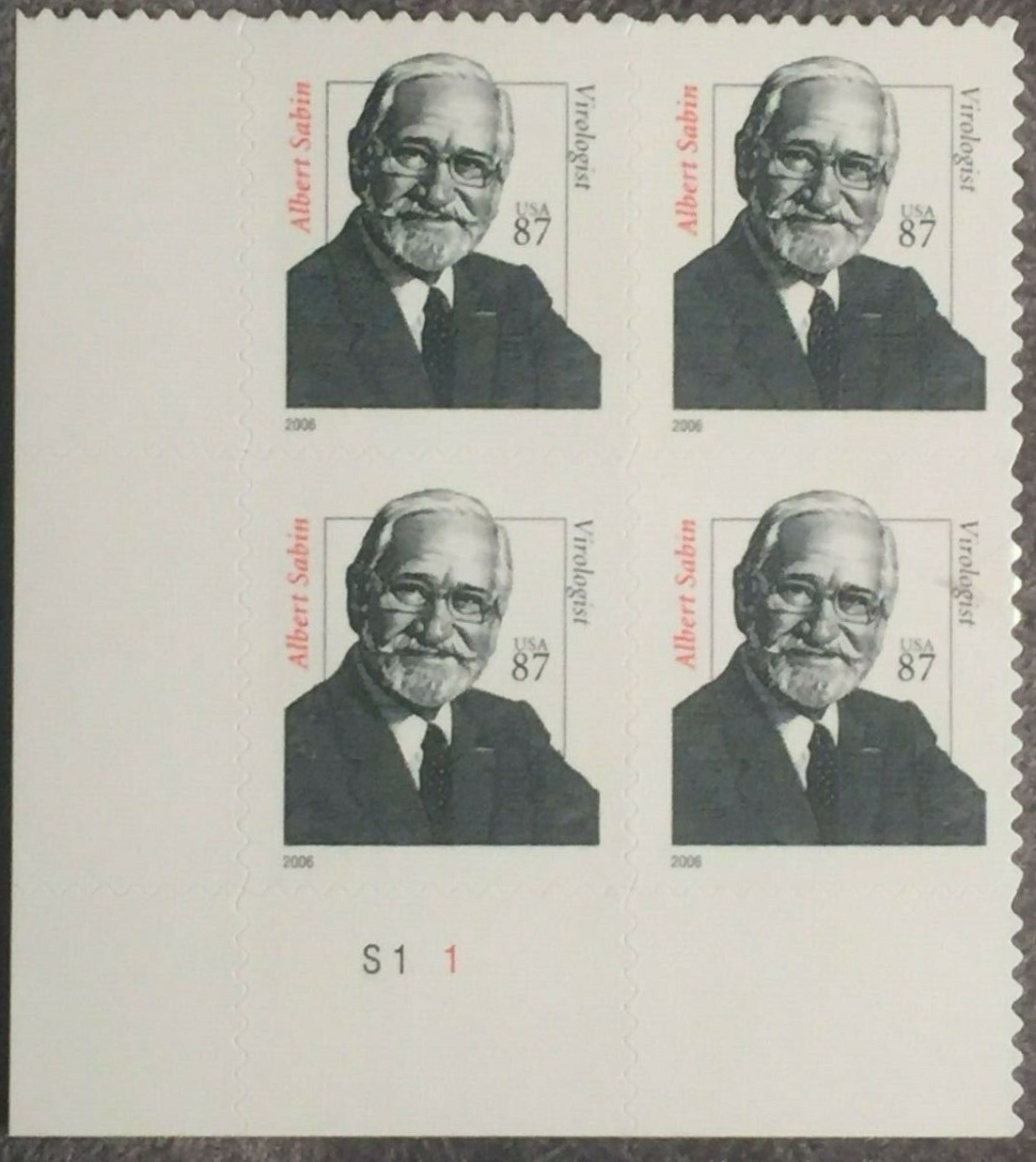 "Scott 3435 Plate Block (87 cents) <p> <a href=""/images/USA-Scott-3435-PB.jpg""><font color=green><b>View the image</a></b></font>"