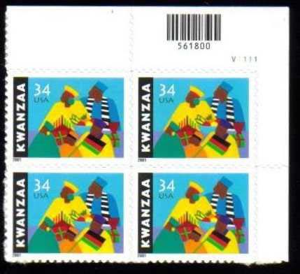 "Scott 3548 Plate Block (34 cents) <p> <a href=""/images/USA-Scott-3548-PB.jpg""><font color=green><b>View the image</a></b></font>"
