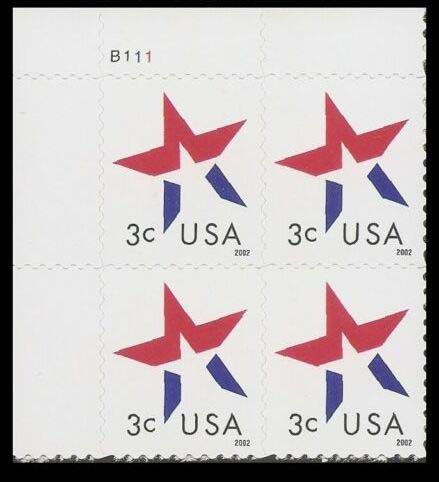 "Scott 3614 Plate Block, Date is lower right (3 cents) <p> <a href=""/images/USA-Scott-3614-PB.jpg""><font color=green><b>View the image</a></b></font>"