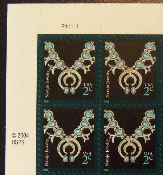 "Scott 3752 Plate Block (2 cents), <font color=red>2006 date, Plate is P+5 numbers </font><p> <a href=""/images/USA-Scott-3752-PB.jpg""><font color=green><b>View the image</a></b></font>"