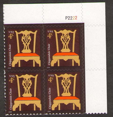 "Scott 3755 Plate Block (4 cents) <p> <a href=""/images/USA-Scott-3755-PB.jpg""><font color=green><b>View the image</a></b></font>"