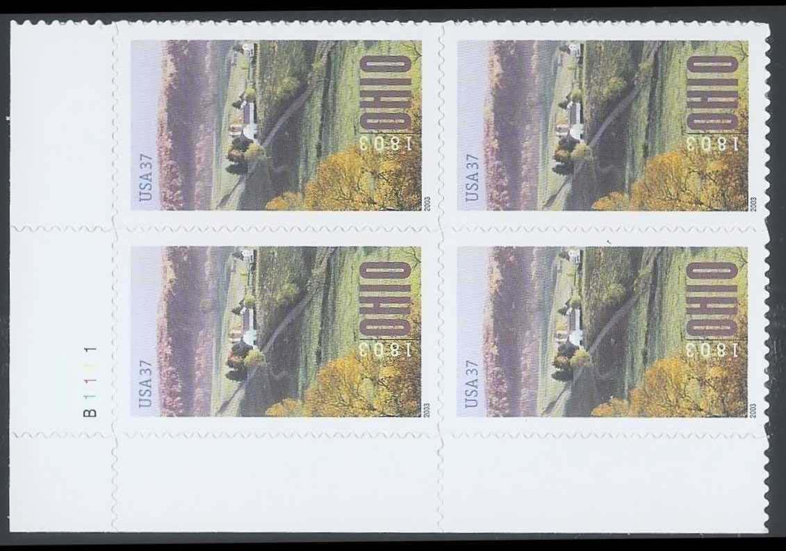 "Scott 3773 Plate Block (37 cents) <p> <a href=""/images/USA-Scott-3773-PB.jpg""><font color=green><b>View the image</a></b></font>"