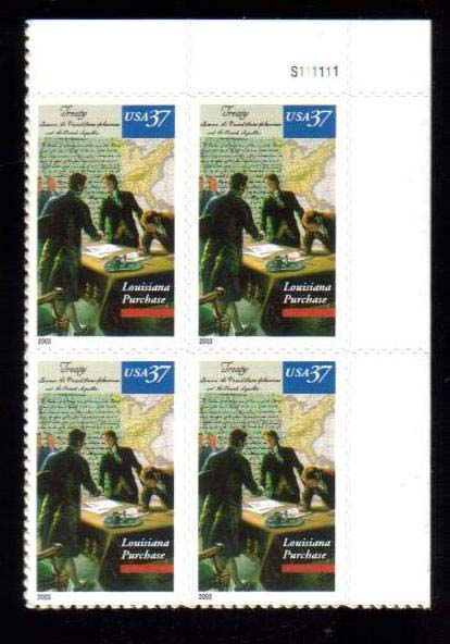 "Scott 3782 Plate Block (37 cents) <p> <a href=""/images/USA-Scott-3782-PB.jpg\""><font color=green><b>View the image</a></b></font>"