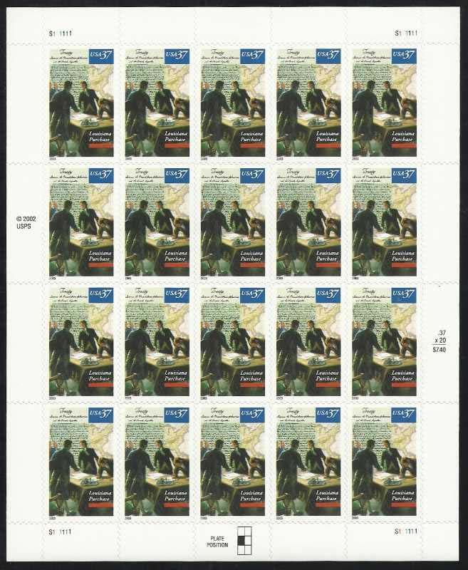 "Scott 3782, Pane of 20 (37 cents) <p> <a href=""/images/USA-Scott-3782-Sheet.jpg""><font color=green><b>View the image</a></b></font>"