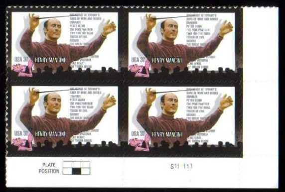 "Scott 3839 Plate Block (37 cents) <p> <a href=""/images/USA-Scott-3839-PB.jpg""><font color=green><b>View the image</a></b></font>"
