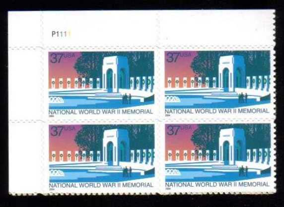 "Scott 3862 Plate Block (37 cents) <p> <a href=""/images/USA-Scott-3862-PB.jpg""><font color=green><b>View the image</a></b></font>"