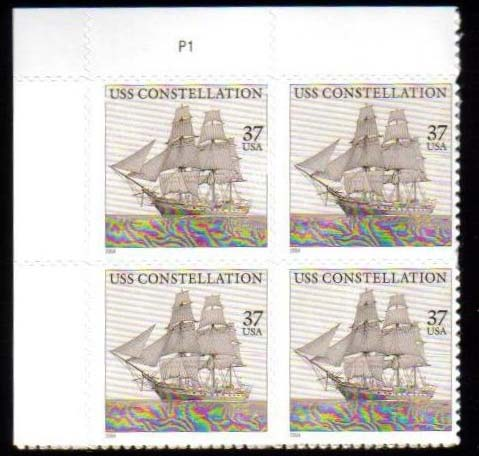 "Scott 3869 Plate Block (37 cents) <p> <a href=""/images/USA-Scott-3869-PB.jpg""><font color=green><b>View the image</a></b></font>"