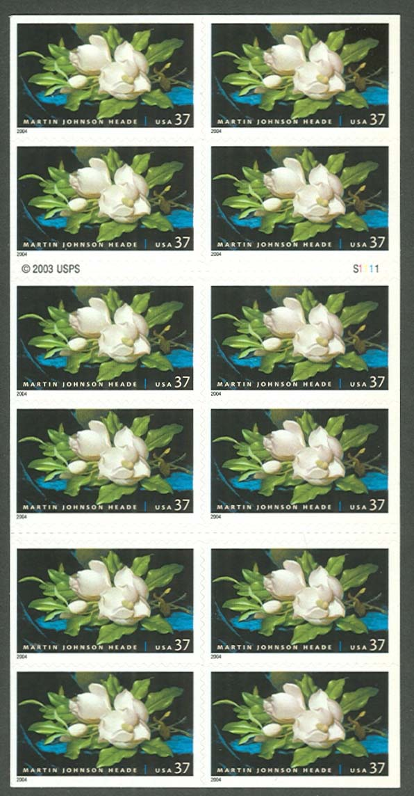 "Scott 3872, Pane of 20 (37 cents) Double Side <p> <a href=""/images/USA-Scott-3872-Sheet.jpg""><font color=green><b>View the image</a></b></font>"