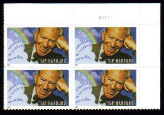 "Scott 3905 Plate Block (37 cents) <p> <a href=""/images/USA-Scott-3905-PB.jpg""><font color=green><b>View the image</a></b></font>"