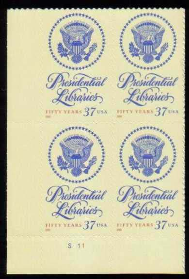 "Scott 3930 Plate Block (37 cents) <p> <a href=""/images/USA-Scott-3930-PB.jpg""><font color=green><b>View the image</a></b></font>"