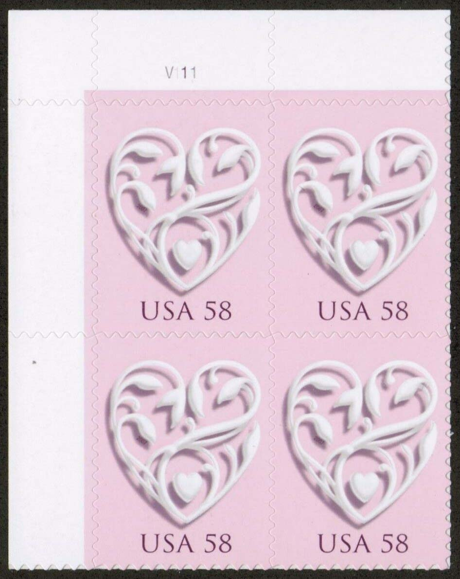 "Scott 4152 Plate Block (58 cents) <p> <a href=""/images/USA-Scott-4152-PB.jpg""><font color=green><b>View the image</a></b></font>"