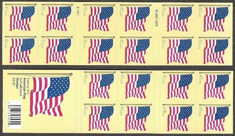 "Scott 4191a Booklet Pane of 20, double sided (41 cents) <p> <a href=""/images/USA-Scott-4191a-Sheet.jpg""><font color=green><b>View the image</a></b></font>"