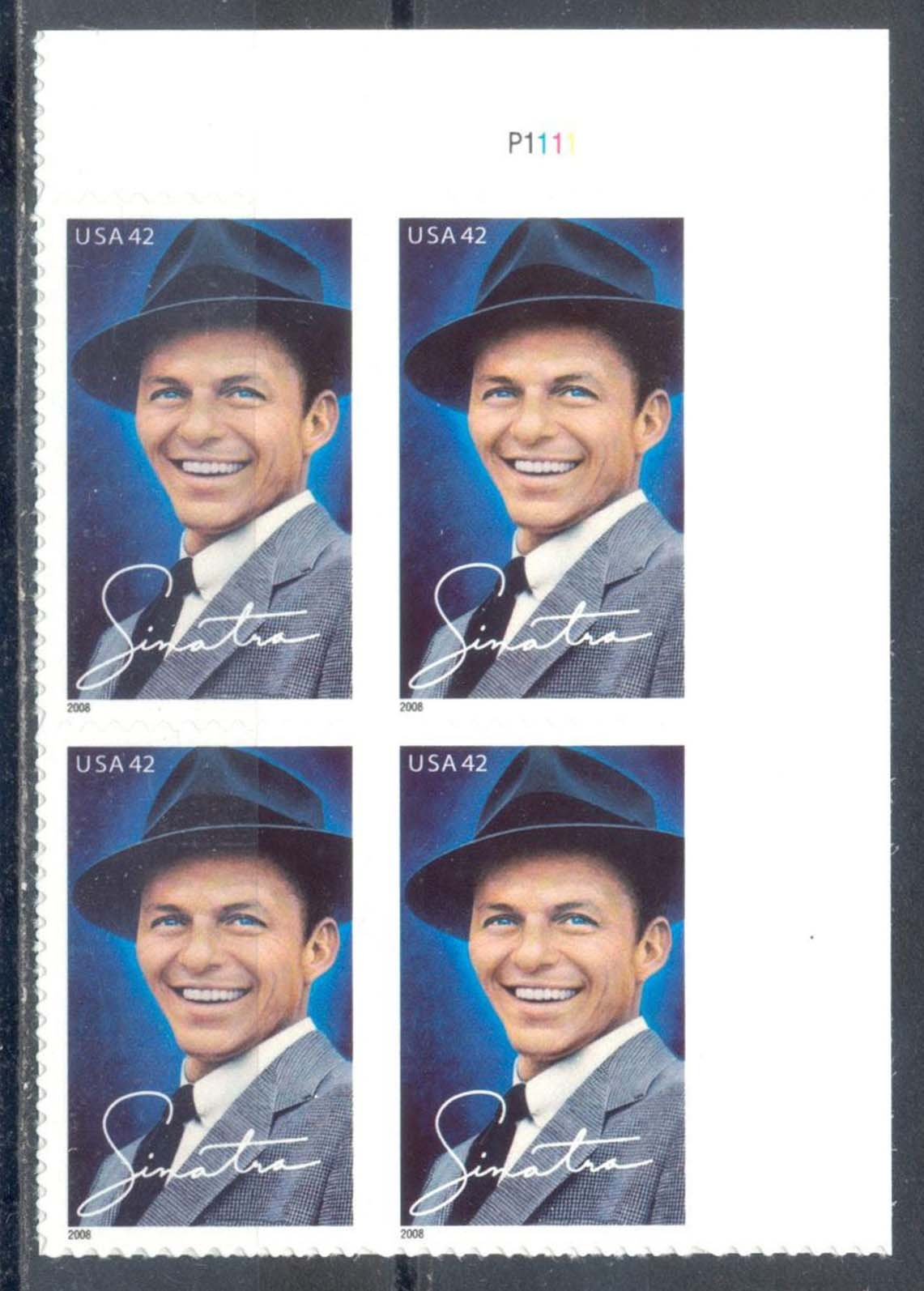"Scott 4265 Plate Block (42 cents) <p> <a href=""/images/USA-Scott-4265-PB.jpg""><font color=green><b>View the image</a></b></font>"
