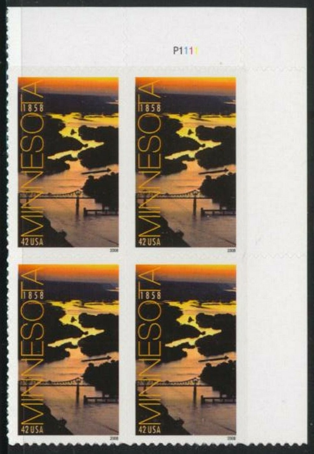 "Scott 4266 Plate Block (42 cents) <p> <a href=""/images/USA-Scott-4266-PB.jpg""><font color=green><b>View the image</a></b></font>"