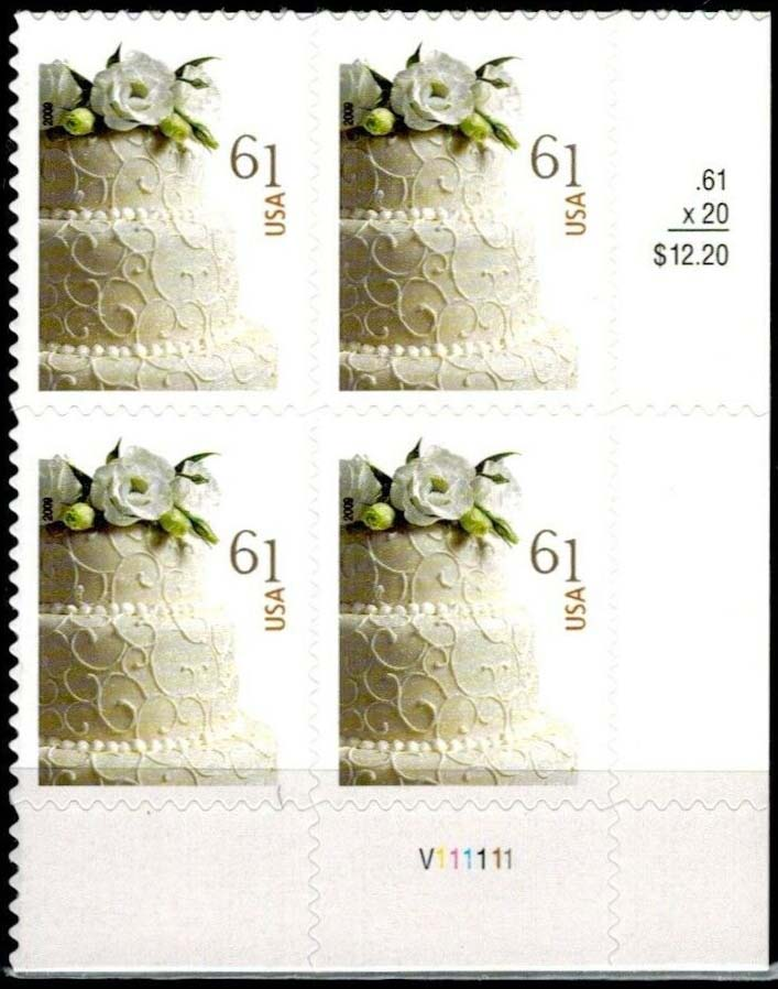 "Scott 4398 Plate Block (61 cents) <p> <a href=""/images/USA-Scott-4398-PB.jpg""><font color=green><b>View the image</a></b></font>"