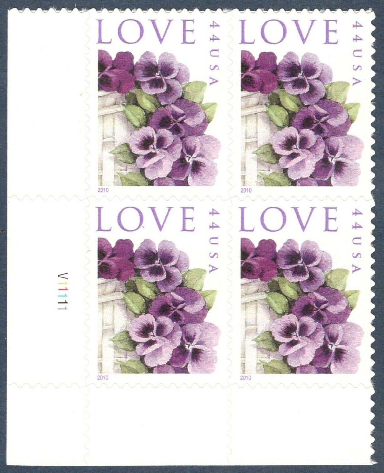 "Scott 4450 Plate Block (44 cents) <p> <a href=""/images/USA-Scott-4450-PB.jpg""><font color=green><b>View the image</a></b></font>"