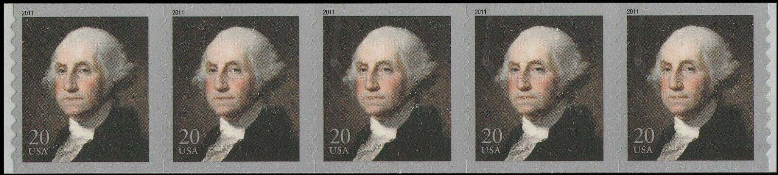 Scott #4512, 20 Cents Coil of 5 stamps, George Washington Coil