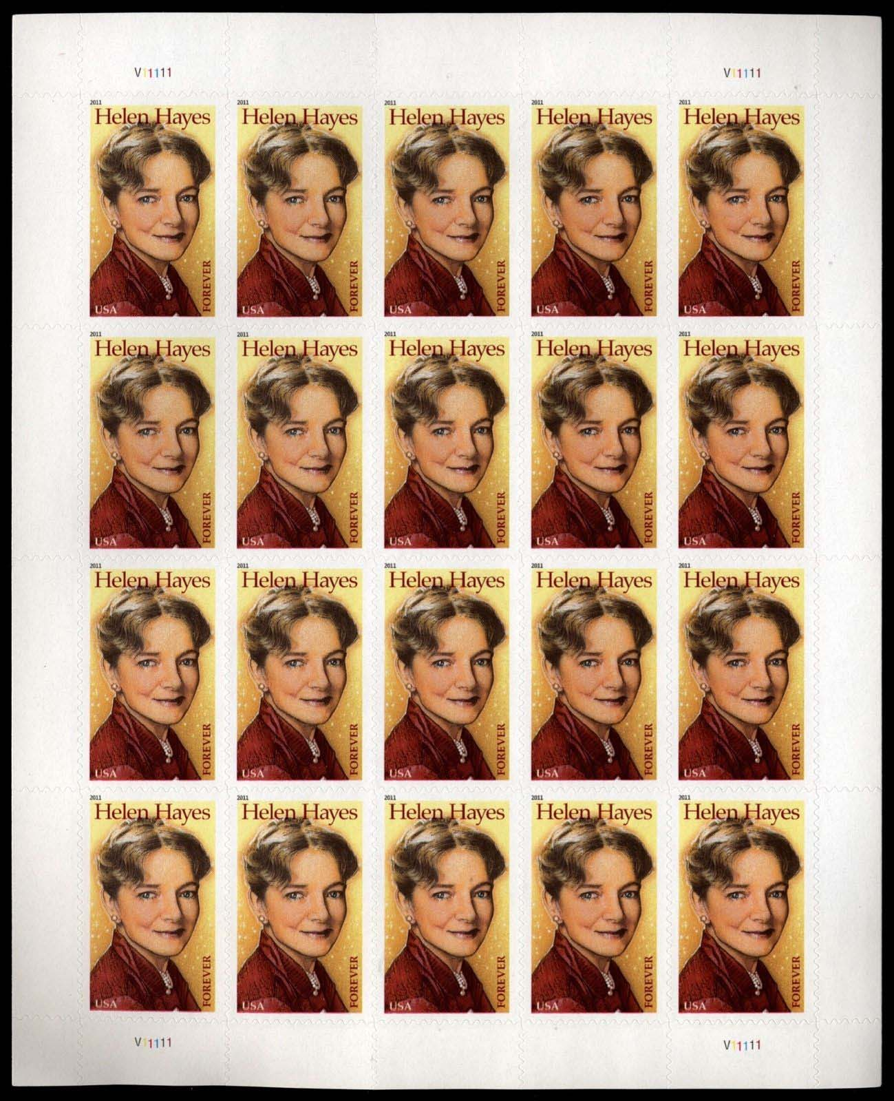 Scott #4525, Forever sheet of 20, Helen Hayes, Actress