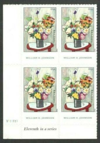 Scott #4653, Forever Plate Block of 4, William Johnson