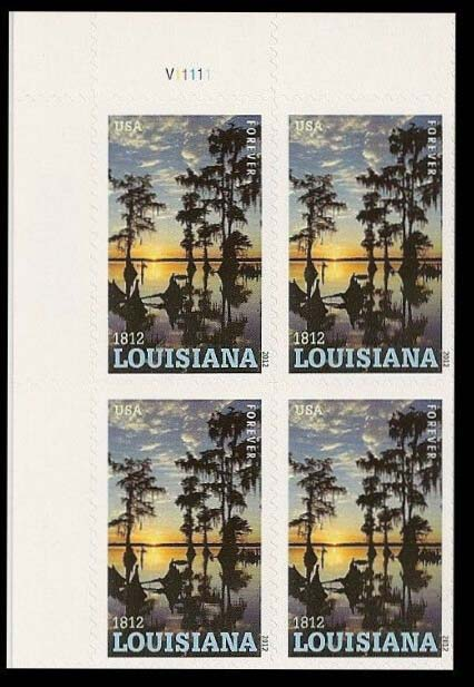 Scott #4667, Forever Plate Block of 4, Louisianan Statehood