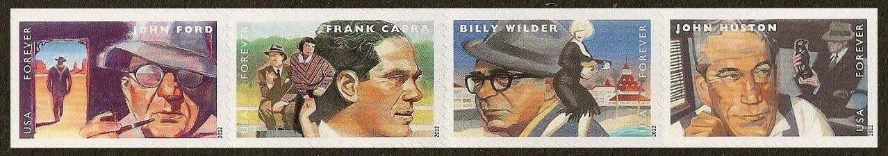 Scott #4668-4671, Forever Strip of 4, Great Film Directors, John Ford, Frank Capra, Billy Wilder, John Huston