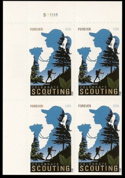 Scott #4691, Forever Plate Block of 4, Scouting