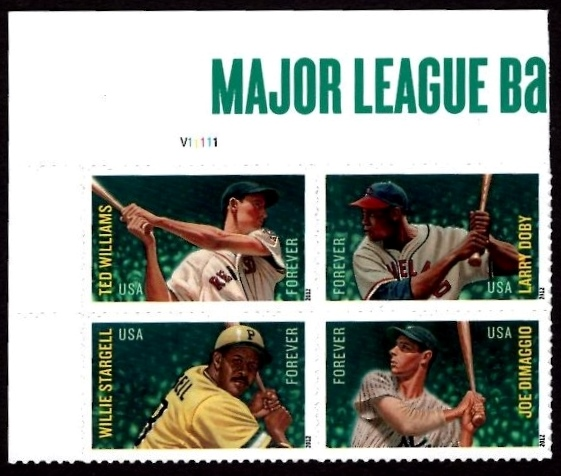 Scott #4694-4697, Forever Plate Block of 4, MLB All Stars