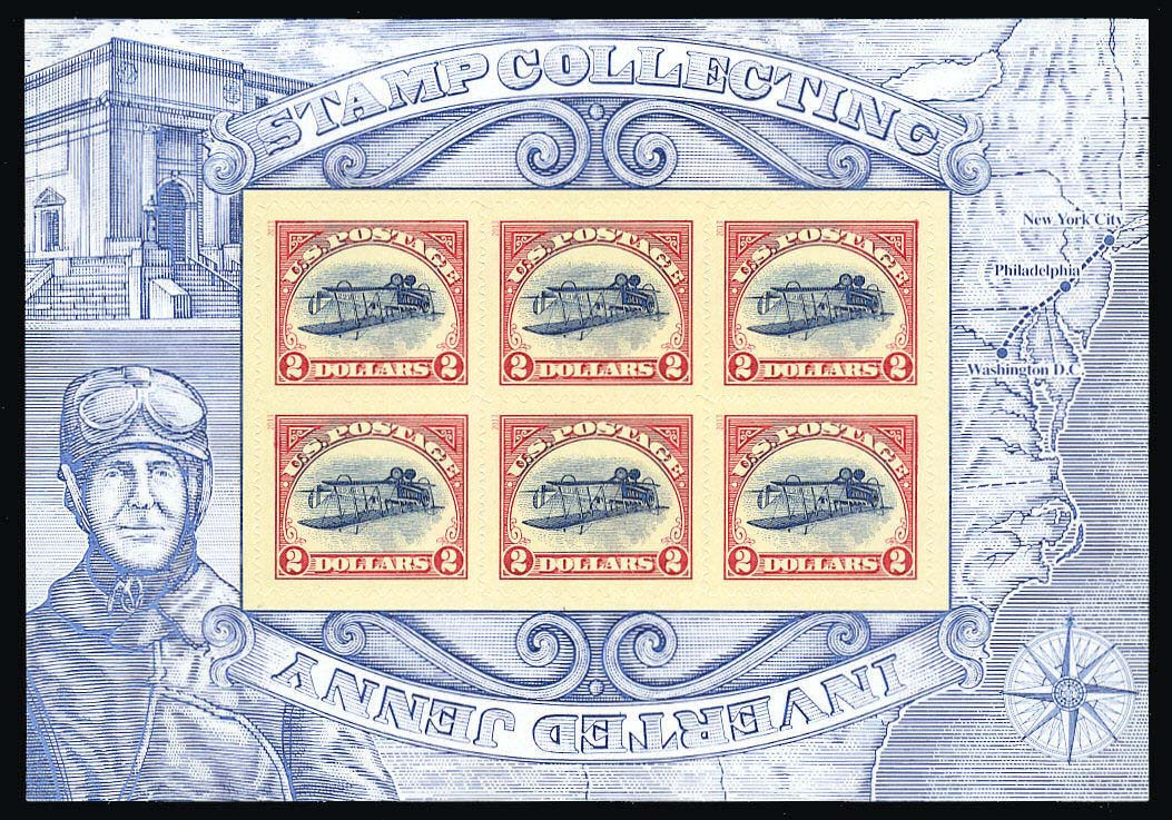 "Scott 4806 Inverted Jenny Sheet of 6 Stamps,  (Face 12.00) <p> <a href=""/images/USA-Scott-4806-Sheet.jpg""><font color=green><b>View the image</a></b></font>"