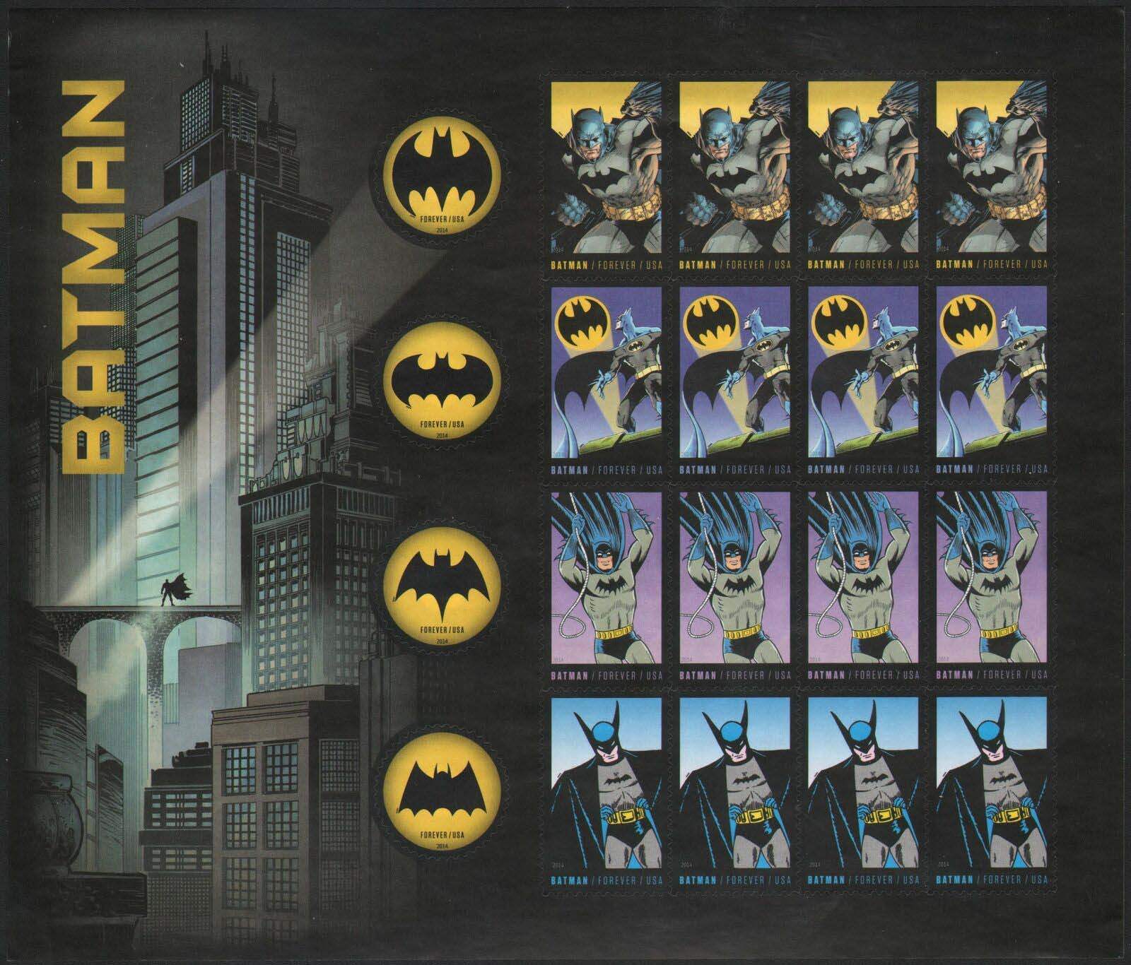 Scott #4928, Forever sheet of 20, Batman