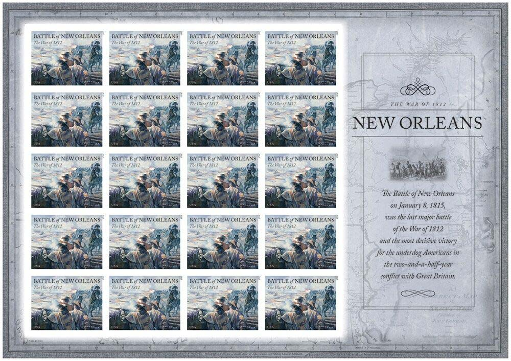 Scott #4952, Forever sheet of 20, Battle of New Orleans