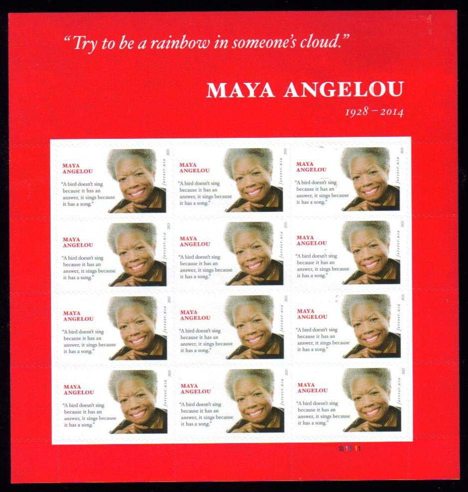 Scott #4979, Forever sheet of 12, Maya Angelou