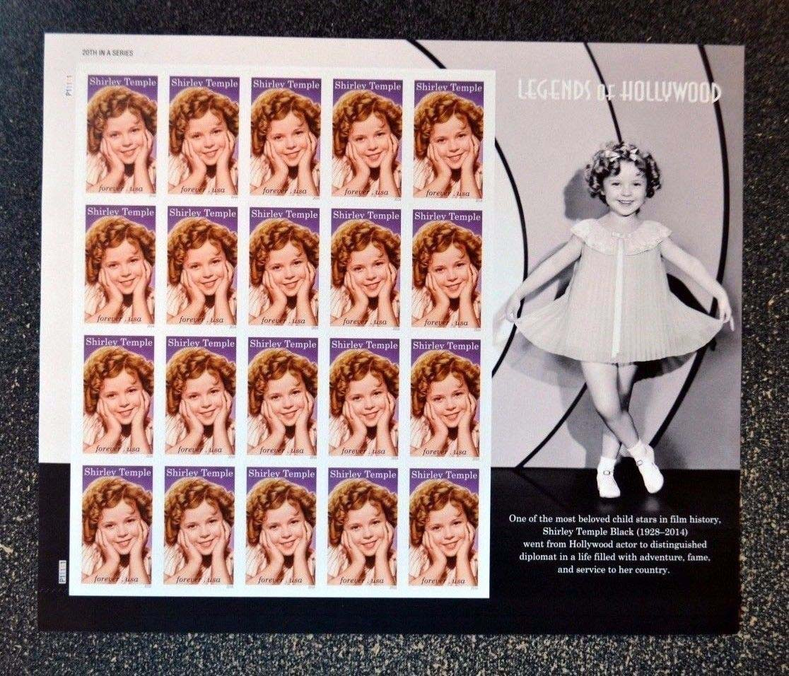 Scott 5060, Pane of 20, Forever Stamp, Shirley Temple<p> <a href=&quot;/images/USA-Scott-5060-Sheet.jpg&quot;><font color=green><b>View the image</a></b></font>