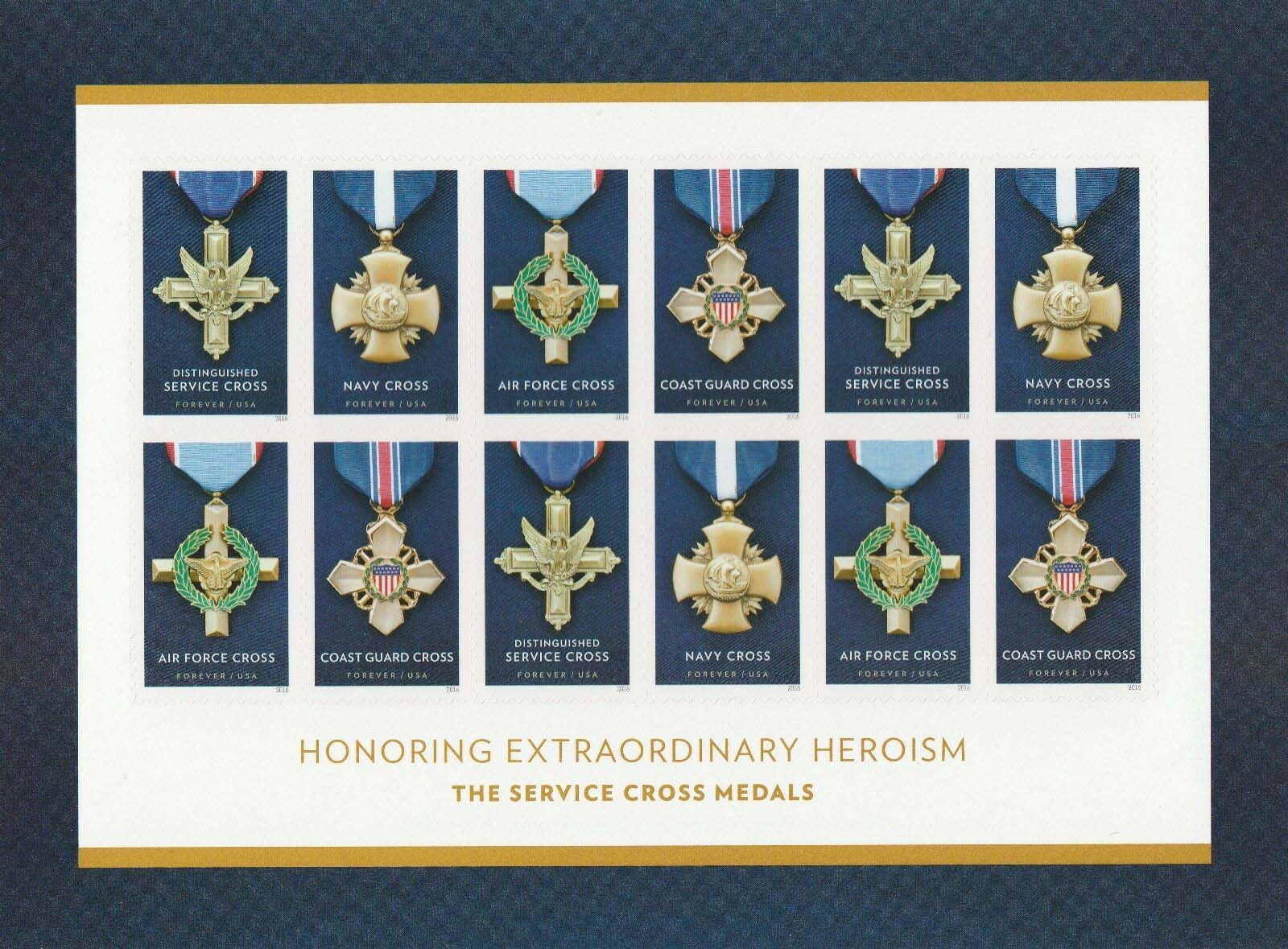 "Scott 5065-5068 Sheet, Forever Stamp, sheet of 12, Cross Medals <p> <a href=""/images/USA-Scott-5065-5068-Sheet.jpg""><font color=green><b>View the image</a></b></font>"