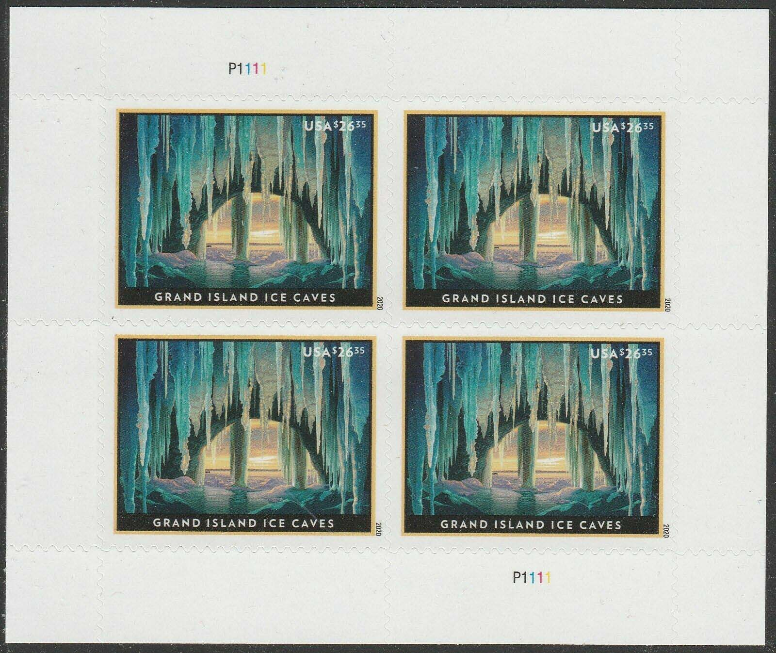 Scott #5430, Express Mail, $26.35 Sheet of 4 stamps, Grand Island Ice Caves