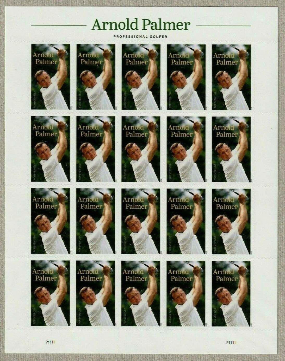 Scott #5455, Forever Sheet of 20, Arnold Palmer