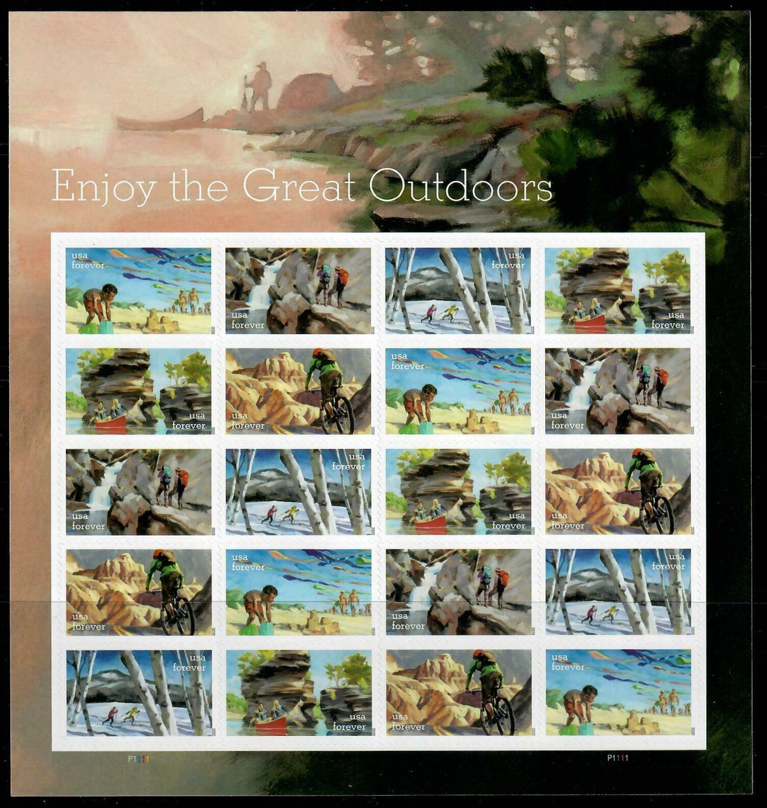 Scott #5461-5470, Forever Sheet of 20, Amerian Gardens