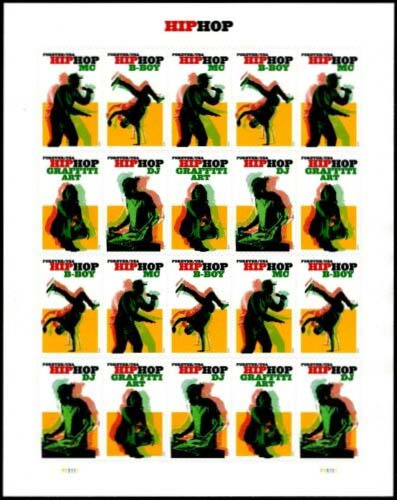 Scott #5480-5483, Forever Sheet of 20, HipHop