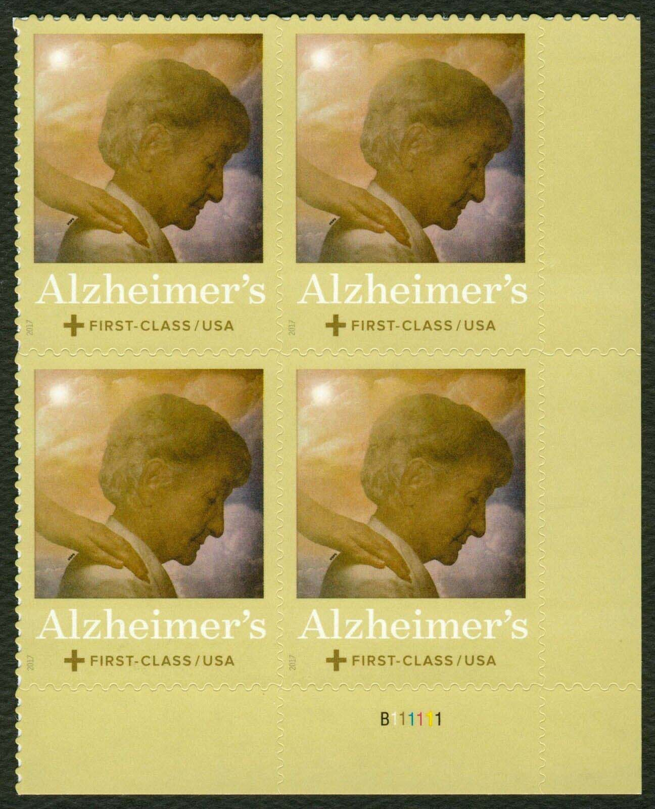Scott #B-6, Semi Postal, Plate Block of 4, Alzheimer's Disease