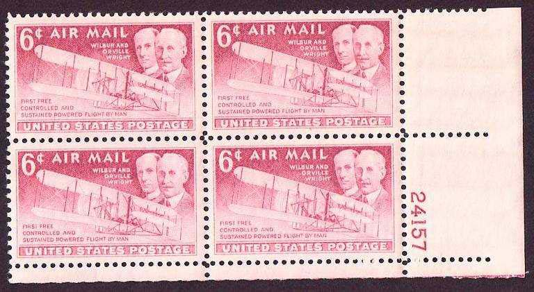 "Scott C-047 Plate Block (06 cents) <p> <a href=""/images/USA-Scott-C-047-PB.jpg\""><font color=green><b>View the image</a></b></font>"