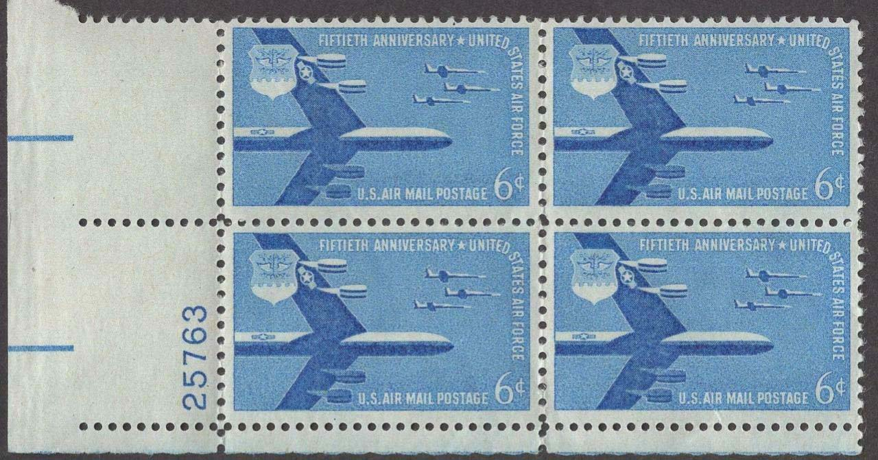 Scott C-049 Plate Block (6 cents)