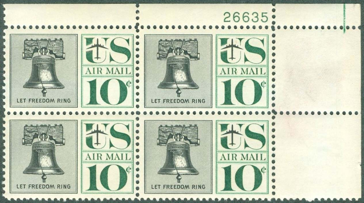 Scott C-057 Plate Block (10 cents)