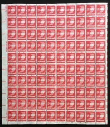 Scott C-079 Sheet (13 cents) <p> <a href=\&quot;/images/USA-Scott-C-079-Sheet.jpg\&quot;><font color=green><b>View the image</a></b></font>